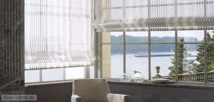 Rollos Raffrollos Fensterdekoration Sichtschutz Sonnenschutz